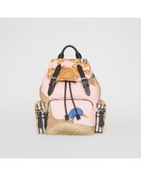 Burberry - The Medium Rucksack In Archive Scarf Print - Lyst