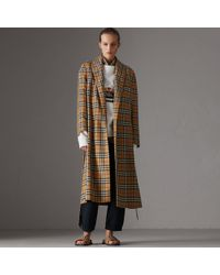 Burberry - Reissued Vintage Check Dressing Gown Coat - Lyst