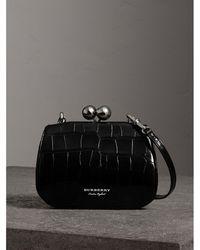 Burberry - Small Alligator Frame Bag - Lyst