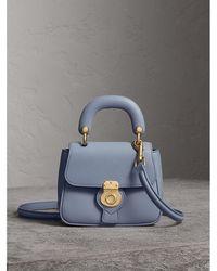 Burberry - The Mini Dk88 Top Handle Bag In Slate Blue | - Lyst