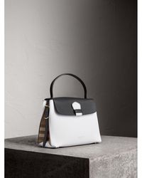 0ee4b2a1a80e Lyst - Burberry The Bucket Bag In House Check And Leather Black in Black