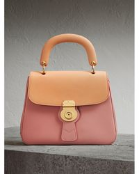 Burberry - The Medium Dk88 Top Handle Bag Ash Rose/pale Clementine - Lyst