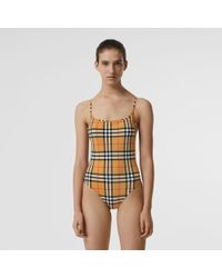 Burberry - Vintage Check Swimsuit - Lyst