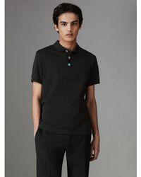 Burberry - Painted Button Cotton Piqué Polo Shirt - Lyst