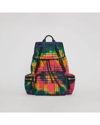 Burberry - The Large Rucksack In Tie-dye Vintage Check - Lyst