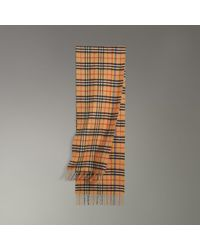 Burberry - The Classic Rainbow Vintage Check Cashmere Scarf - Lyst