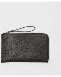 Burberry - Two-tone Grainy Leather Travel Wallet - Lyst