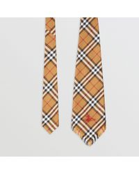 Burberry - Wide Cut Vintage Check Silk Tie - Lyst