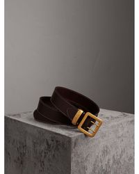 Burberry - Double-pin Buckle Leather Belt - Lyst