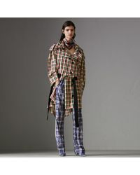 Burberry - Check Lightweight Hooded Parka - Lyst