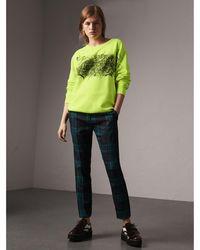 Burberry - Doodle Print Cotton Sweatshirt - Lyst