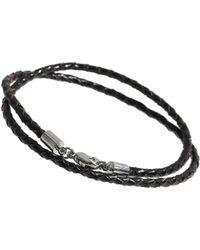 Burton - Black Leather Bracelet - Lyst