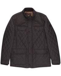 Burton - Navy Diamond Quilted Jacket - Lyst