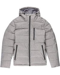 Burton - Grey Midweight Hooded Padded Jacket - Lyst