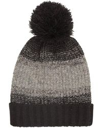 Burton - Black And Grey Block Bobble Beanie Hat - Lyst