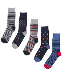 Burton - 3 Pack Multi Coloured Spotted And Striped Socks - Lyst