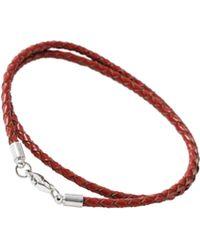Burton - Red Leather Look Bracelet - Lyst