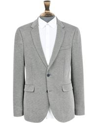 Burton - Dark Grey Slim Fit Jersey Blazer - Lyst