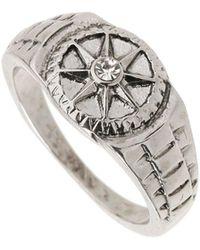 Burton - Silver Compass Ring - Lyst