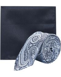 Burton - Silver And Blue Paisley Set - Lyst