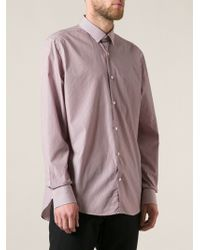 Lanvin Red Striped Shirt - Lyst