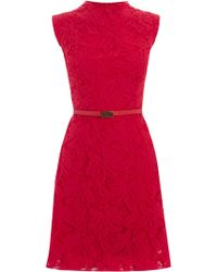 Oasis Erin Lace Shift Dress red - Lyst