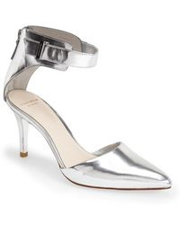 Cole Haan 'Highline' Ankle Strap Pump silver - Lyst