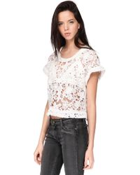 IRO Short Sleeve Top - Filly - Lyst
