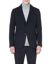 Armani Hopsack Patch-pocket Jacket - Lyst