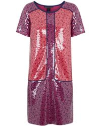 Marc By Marc Jacobs Liberty Pink Printed and Sequin Embellished Jersey Dress - Lyst