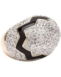 CC Skye Cracked Pave Egg Ring - Lyst