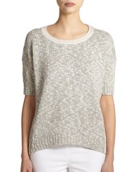 Lafayette 148 New York MelangÉ-Knit & Jersey Sweater - Lyst