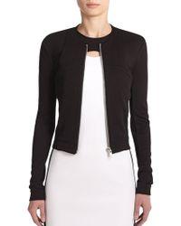 Helmut Lang Seam-Detail Knit Jacket black - Lyst