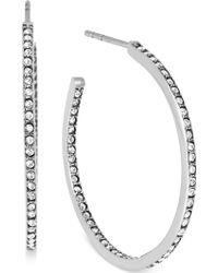 Michael Kors Crystal Pavé Small Hoop Earrings - Lyst