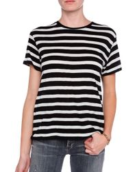 R13 Striped Boy Tee - Lyst