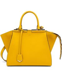 Fendi 3Jours Crocodile-Accented Shopper yellow - Lyst
