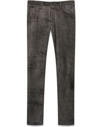 Helmut Lang Grey Acid Wash Straight Leg Jean - Lyst