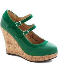 ModCloth Fairway To Go Wedges green - Lyst