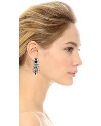 Dannijo Everly Earrings  Silvercrystal - Lyst