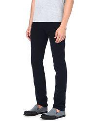 J Brand Finlay Fulton Slimfit Straight Jeans Navy - Lyst