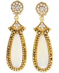 Jose & Maria Barrera Mother-Of-Pearl Elongated Clip Earrings - Lyst