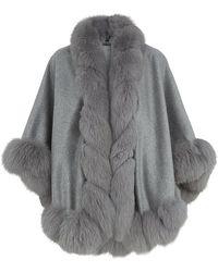 Harrods Fox Fur Spiral Trim Cape - Lyst
