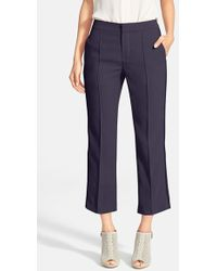 See By Chloé Braided Trim Pintuck Crop Trousers - Lyst