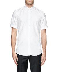 Alexander McQueen Allover Skull Jacquard Shirt - Lyst