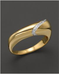 Kara Ross - 18k Yellow Gold And Diamond Thin Hydra Stacking Ring - Lyst