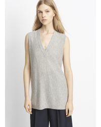 Vince | Cashmere Deep V-neck Sweater Vest | Lyst