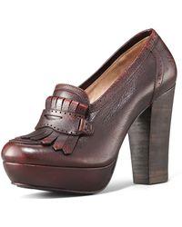Frye Naiya Leather Loafer Pump - Lyst