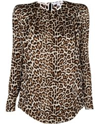 Carven Leopard Crumpled Canvas Top - Lyst