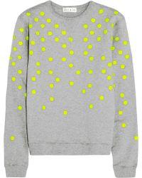 Lulu & Co - Polka-dot Cotton-jersey Sweatshirt - Lyst
