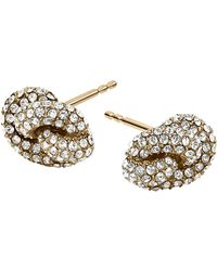 Michael Kors Knot Stud Earrings - Lyst